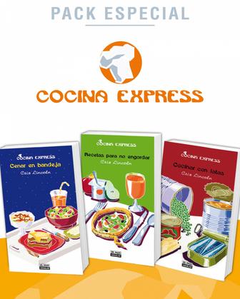 Pack Especial Cocina Express: Cenar en bandeja, Recetas para no engordar y Cocinar con latas