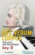 Ave Verum - Solo voice and Piano/Organ (in E)