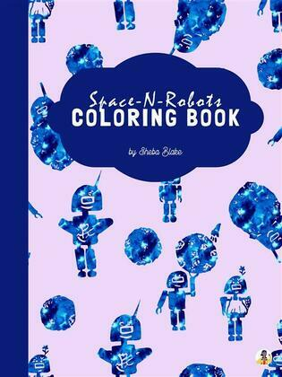 Space-N-Robots Coloring Book for Kids Ages 3+ (Printable Version)