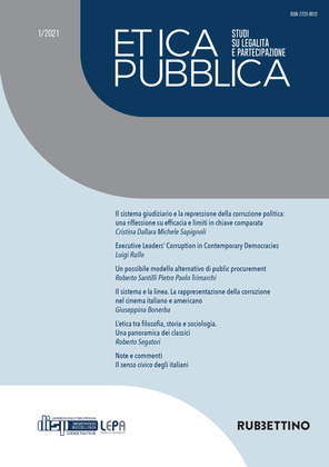 Etica Pubblica 1/2021 – Studi su legalità e partecipazione