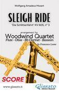 Sleigh Ride - Woodwind Quartet (SCORE)