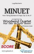 Minuet - Woodwind Quartet (SCORE)