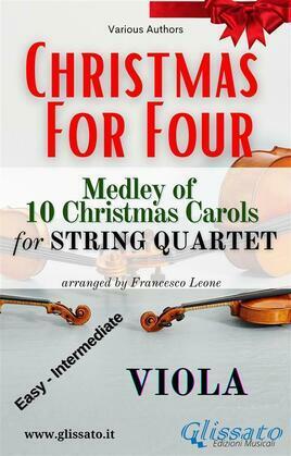 (Viola) Christmas for four - String Quartet