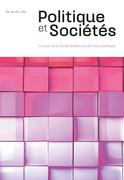Politique et Sociétés. Vol. 40 No. 2,  2021