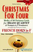 (F Horn opt.) Christmas for four - Brass Quartet