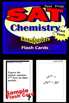 SAT Chemistry Test Prep Review--Exambusters Flash Cards