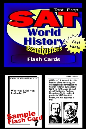 SAT World History Test Prep Review--Exambusters Flash Cards