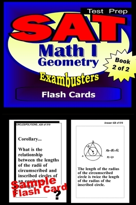 SAT Math Level I Test Prep Review--Exambusters Geometry Flash Cards--Workbook 2 of 2