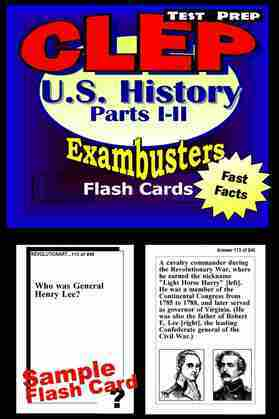 CLEP United States Hisory I & II Test Prep Review--Exambusters Flashcards