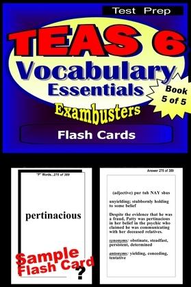 TEAS 6 Test Prep Essential Vocabulary--Exambusters Flash Cards--Workbook 5 of 5