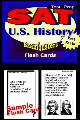 SAT US History Test Prep Review--Exambusters Flash Cards