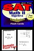 SAT Math Level II Test Prep Review--Exambusters Algebra 1 Flash Cards--Workbook 1 of 2