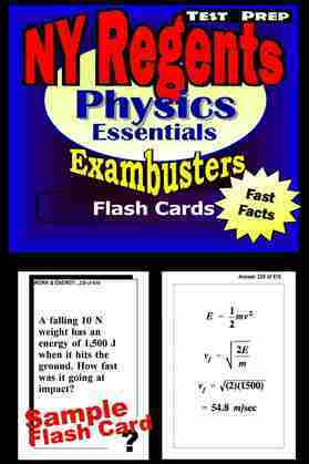 NY Regents Physics Test Prep Review--Exambusters Flashcards