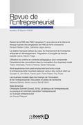 Revue de l'Entrepreneuriat