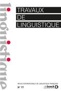 Travaux de linguistique
