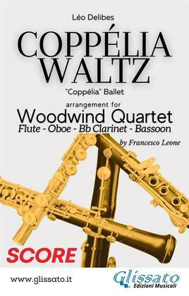 Coppélia Waltz - Woodwind Quartet (Score)