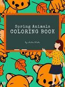 Spring Animals Coloring Book for Kids Ages 3+ (Printable Version)