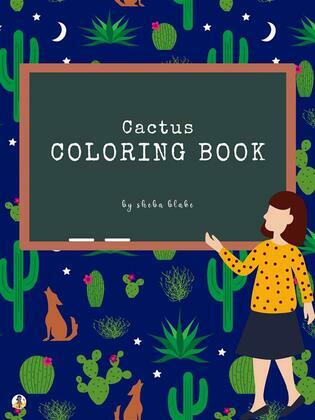 Cactus Coloring Book for Kids Ages 3+ (Printable Version)