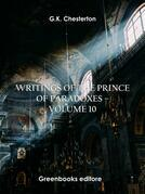 Writings of the Prince of Paradoxes - Volume 10