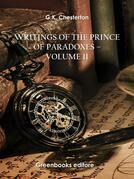 Writings of the Prince of Paradoxes - Volume 11