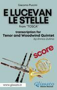 E lucevan le stelle - Tenor & Woodwind Quintet (SCORE)