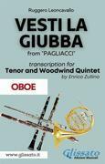 (Oboe part) Vesti la giubba - Tenor & Woodwind Quintet