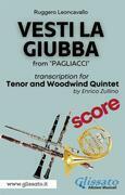 (Score) Vesti la giubba - Tenor & Woodwind Quintet