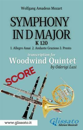 (Score) Symphony K 120 - Woodwind Quintet