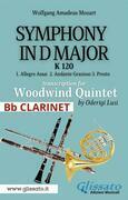 (Bb Clarinet) Symphony K 120 - Woodwind Quintet