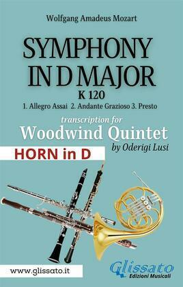 (Horn in D) Symphony K 120 - Woodwind Quintet