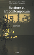 Écriture et art contemporain