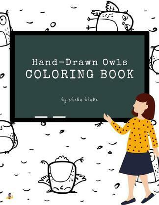 Hand-Drawn Owls Coloring Book for Teens (Printable Version)
