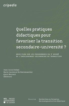 Quelles pratiques didactiques pour favoriser la transition secondaire-université?