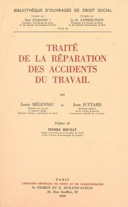 Traité de la réparation des accidents du travail