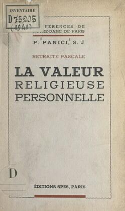 La valeur religieuse personnelle