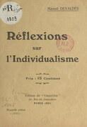 Réflexions sur l'individualisme