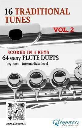 16 Traditional Tunes - 64 easy flute duets (VOL.2)