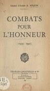 Combats pour l'honneur (1939-1940)