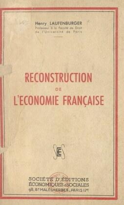 Reconstruction de l'économie française
