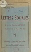 Lettres sociales