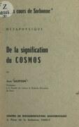 De la signification du cosmos