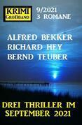 Krimi Großband 3 Romane 9/2021 - Drei Thriller im September 2021