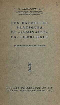 """Les exercices pratiques du """"séminaire"""" en théologie"""