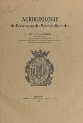 Agrogéologie du département des Pyrénées-Orientales