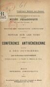 Conférence antivénérienne faite à des ouvrières