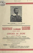 Gassendi et non Locke créateur de la doctrine sensualiste moderne sur la génération des idées