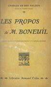 Les propos de M. Boneuil