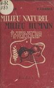 Milieu naturel, milieu humain