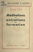 Méditations et entretiens de formation
