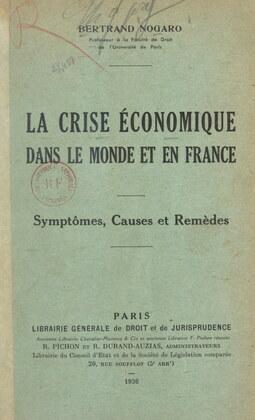 La crise économique dans le monde et en France